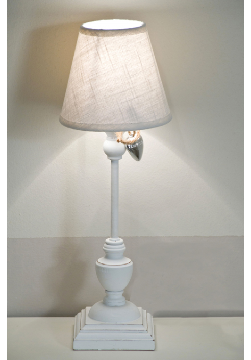 Lampada da tavolo mariein legno e tessuto - Lampada da tavolo legno ...