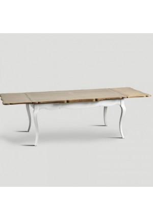 Tavolo Mantu laccato bianco vissuto allungabile fino a 280