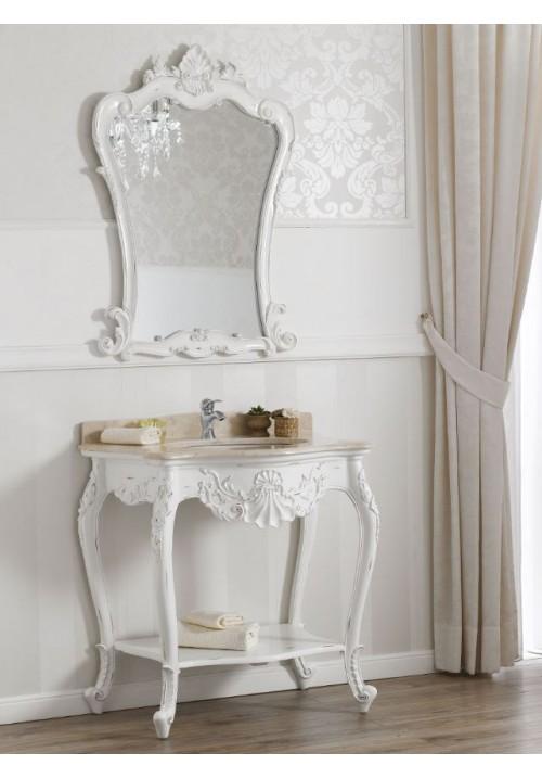 Consolle con lavabo Polette bianca