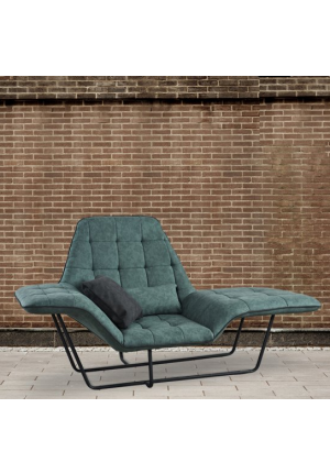 Chaise Longue Poesia in ecopelle verde
