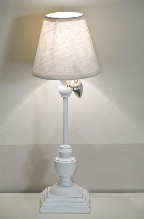 Lampada Da Tavolo Mariein Legno E Tessuto