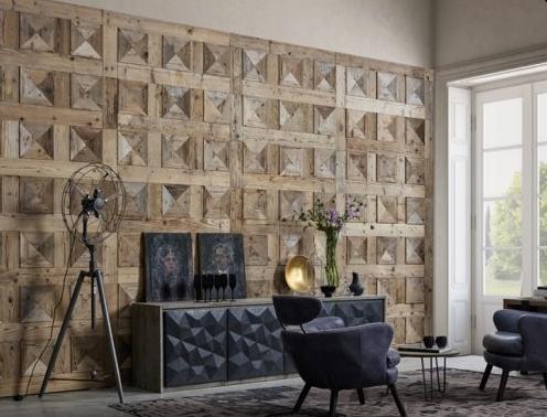 Pannello rivestimento parete in legno anticato