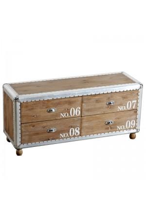 Cassettiera in legno Bax