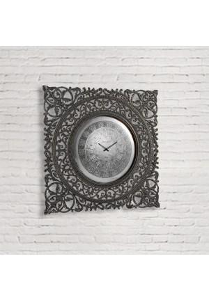 Orologio grande Hélène in mango intagliato grigio lavagna