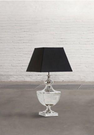 Lampada da tavolo Sfinge in metallo e tessuto