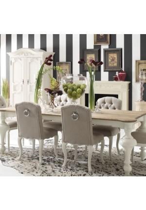 Tavolo fisso Parisienne in rovere bianco antico