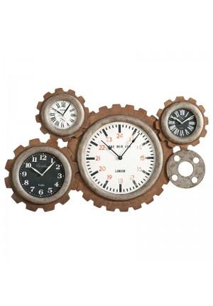 Orologio da parete Verity con ingranaggi