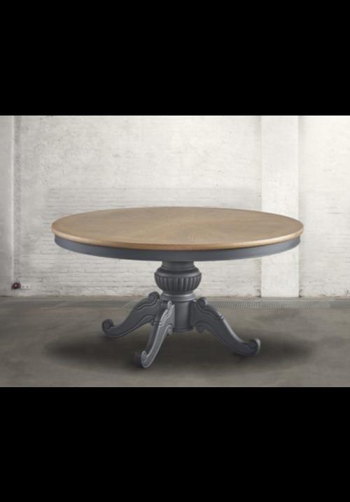 Tavolo rotondo provenzale Elique grigio lavagna diametro 150