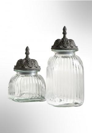 Contenitori in vetro con coperchio