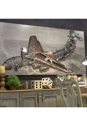 Grande decorazione da parete in rilievo aereo
