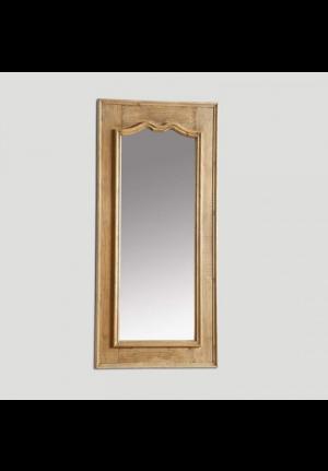 Grande specchiera in legno naturale Le Monde