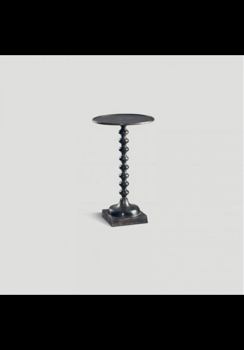 Tavolino Boule in fusione di alluminio fumé